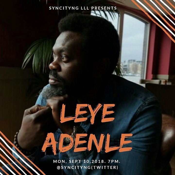 """I Wrote Easy Motion Tourist Because Of Money"" - Leye Adenle"